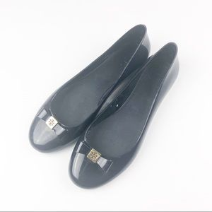 Tory Burch Navy Jelly Bow Flats Size 8M